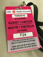 fig. 1 carte de visiteur.e (CBC, photo prise par KN)
